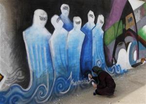 Grafit a Afgahnistan (Photo/Shamsia Hassani)