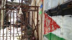 carreró d'Hebron bloquejat per colons