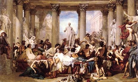 Los Romanos de la Decadencia (1847) de Thomas Couture