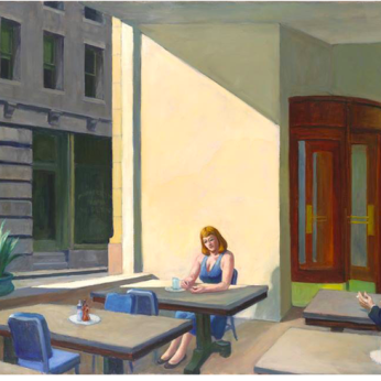 Sunlight in a cafeteria, Edward Hopper