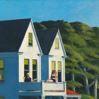 Second story sunlight de Edward Hopper